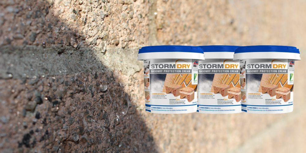 Stormdry Applied to Wall In Action By Toner Damp Proofing & Supplies